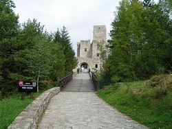 Hrad Strečno - vchod